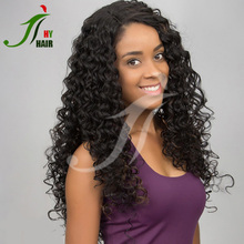 Brazilian Remy Full Lace Wig Kinky Curly Glueless Lace Front Wig Human Hair Highlights for Black Women