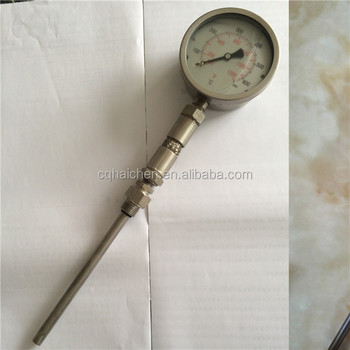 industrial liquid filled gas expansion thermometer oil filler thermometer