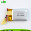 GEB factory rechargeable rapid charge lipo battery 3.7v 502030 250mah for wearable devices with 500 times circle life