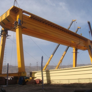 50T double girders gantry crane with hook electric hoist manufacture