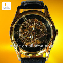 Hollow Mechanical Watches Genuine Leather High Quality Wrist Watch 2013 Watch phone