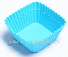 square shaped mini silicone cupcake cups