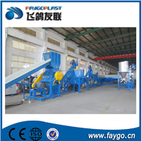 Plastic waste PET bottle recycling cleaning line