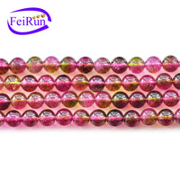 FEIRUN wholesale new design colorful natural crystal beads, round crystal beads