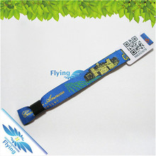 Logo/brand Printed Custom Festival Fabric Woven Wristband for Event