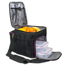 Polyester Insulated Food Prep Meal Bag With Shoulder Strap