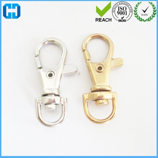 Promotional Gold Swivel Clips Swivel Clasps Lobster claps for Lanyards Key Chains