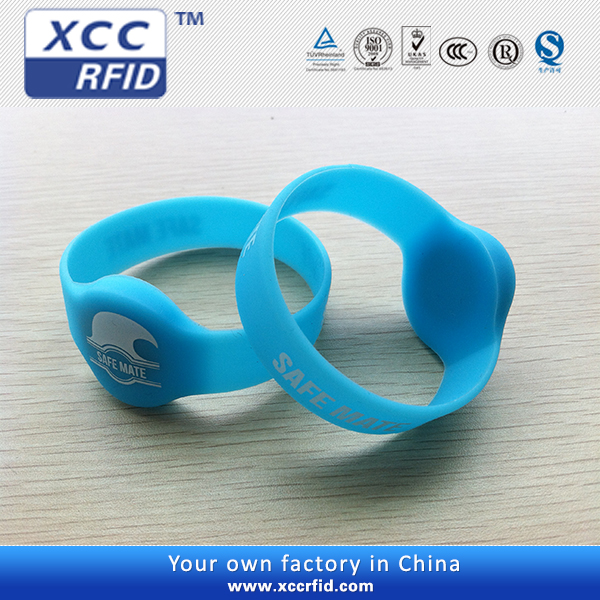 Customized colour silicone rfid wristband