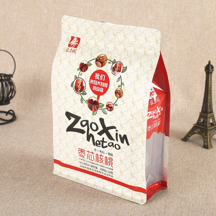 Wholesale resealable heat seal kraft paper packaging bags date palm bags