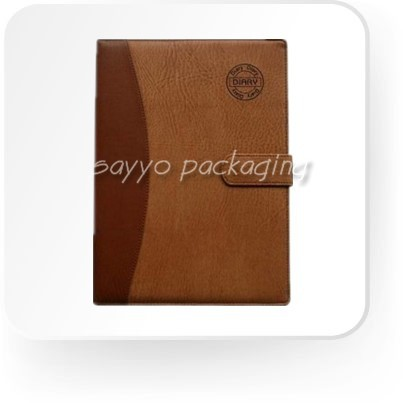 Office stationery With pvc zipper pocket Leather Notebook