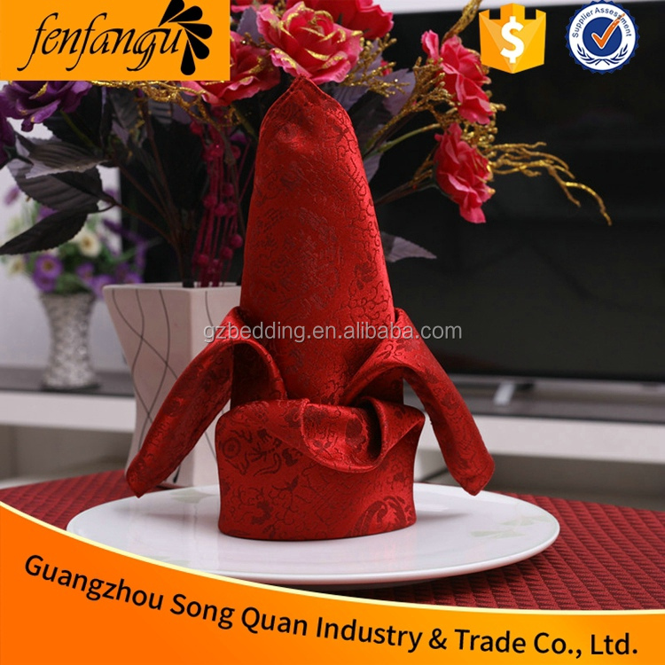 Napkin Ring for Wedding Decoration, Washable Wedding Table Decorative Linen Napkin