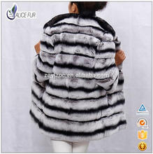 Hot Sale factory supply Fasihon Women Winter imitated chinchilla fur coats with stand collar