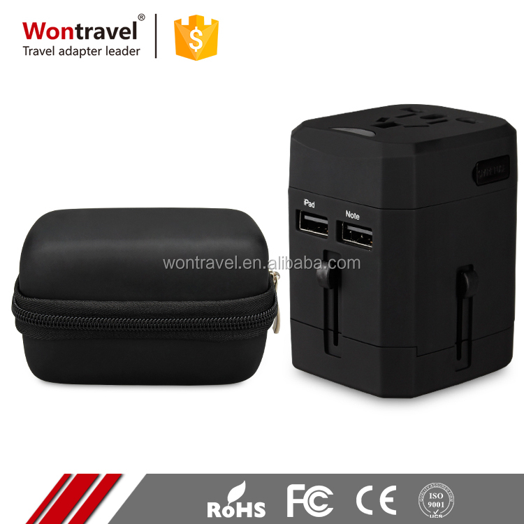 Customized OEM& ODM World Hot Sell Christmas Gift Dual USB Universal 5v Travel Power Adaptor Safety Mark