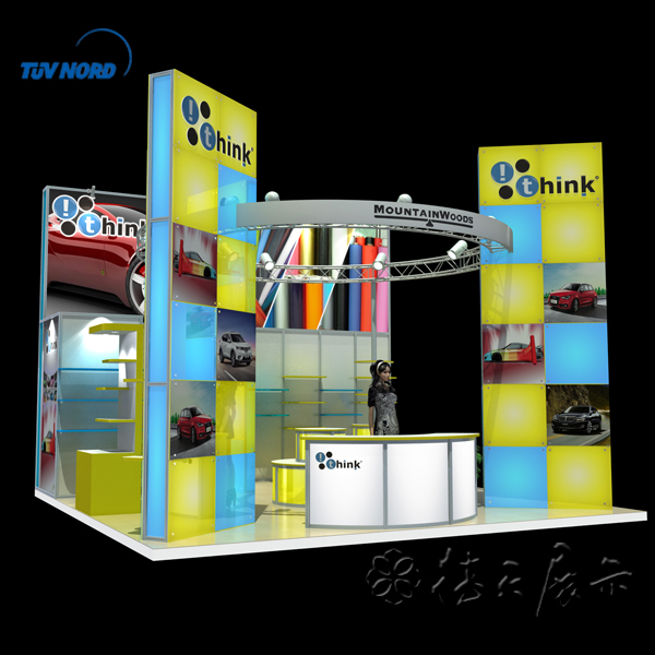 Cheap and fashionable trade show exhibition booth stall design