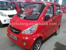red smart electric car with4 door