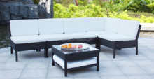 Versatile modern simple design synthetic rattan roots sofa set bali rattan outdoor furniture