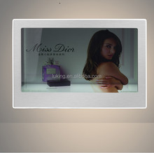 22 inch transparent display lcd advertising box
