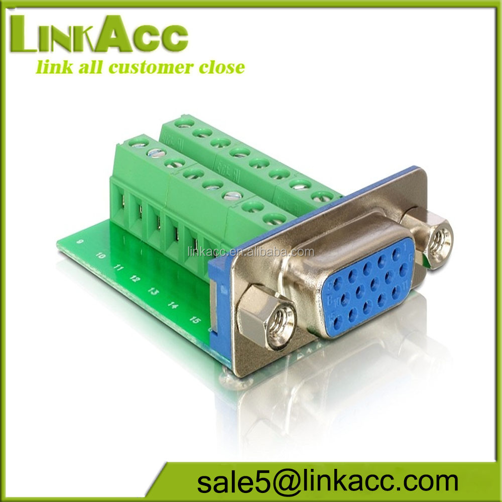 LKCL253 Connector DB15 DR D-SUB female jack 15pin port Terminal breakout PCB Borad