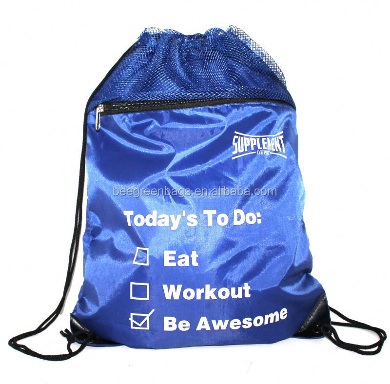 Personalized Mesh draw string gym back pack