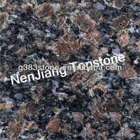 Low price black granite with golden spot