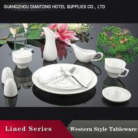 2015 diantong Hotel White Embossed dinner set porcelain