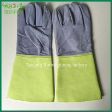 Leather with Split Cuff Stitch with Kevlar Thread / Argon Gloves / Leather Welding Gloves