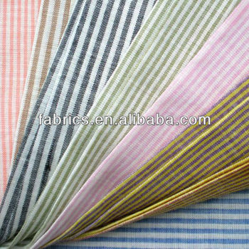 Yarn Dyed Fabric with ramie linen flax cotton