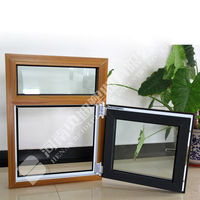 Wooden Finish Window/High Quality UPVC Window and Door/Discount PVC Window Frame Accessories