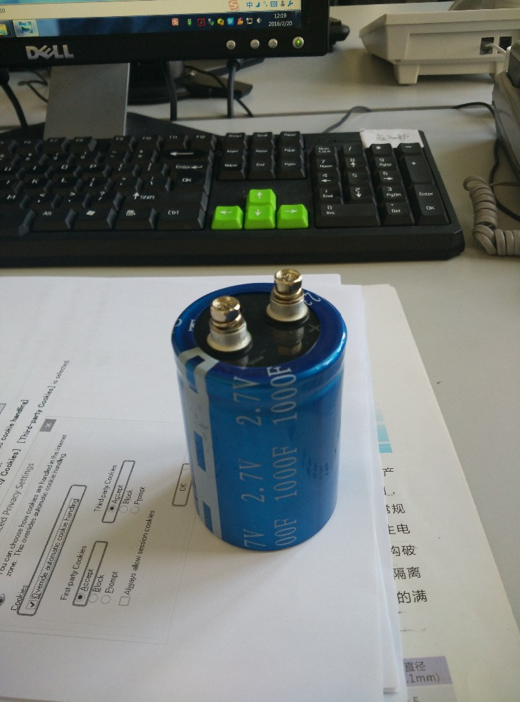 Super Capacitor 2.7V 1000f Winding Series Kamcap Farad Capacitor High Quality with RAM Car Recorder Motor Drive Sue