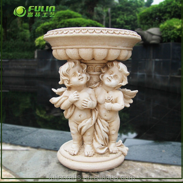 Resin garden decorative angel flower pots