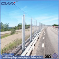 Polycarbonate noise barrier sheets sound walls