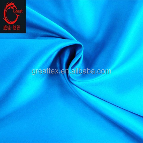 polyester dull satin, stretch satin, matte satin fabric for garments