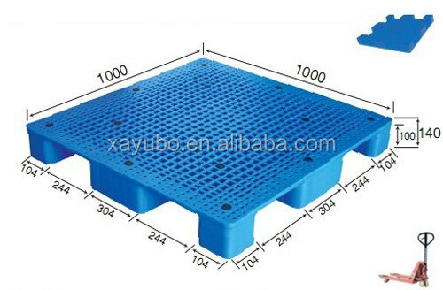 1010 Vented Single Face Plastic Pallet