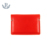 Fashion custom mens genuine leather red travel case passport wallet