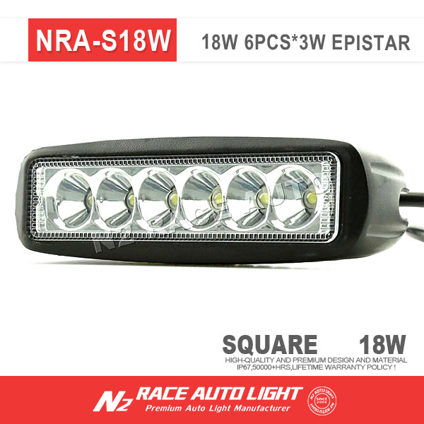 N2 factory Wholesale IP67 Motorcycle LED Light Bar 18w for Suzuki DRZ 400 dirtbike powersport