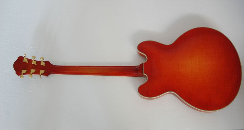half handmade laminated electric guitar