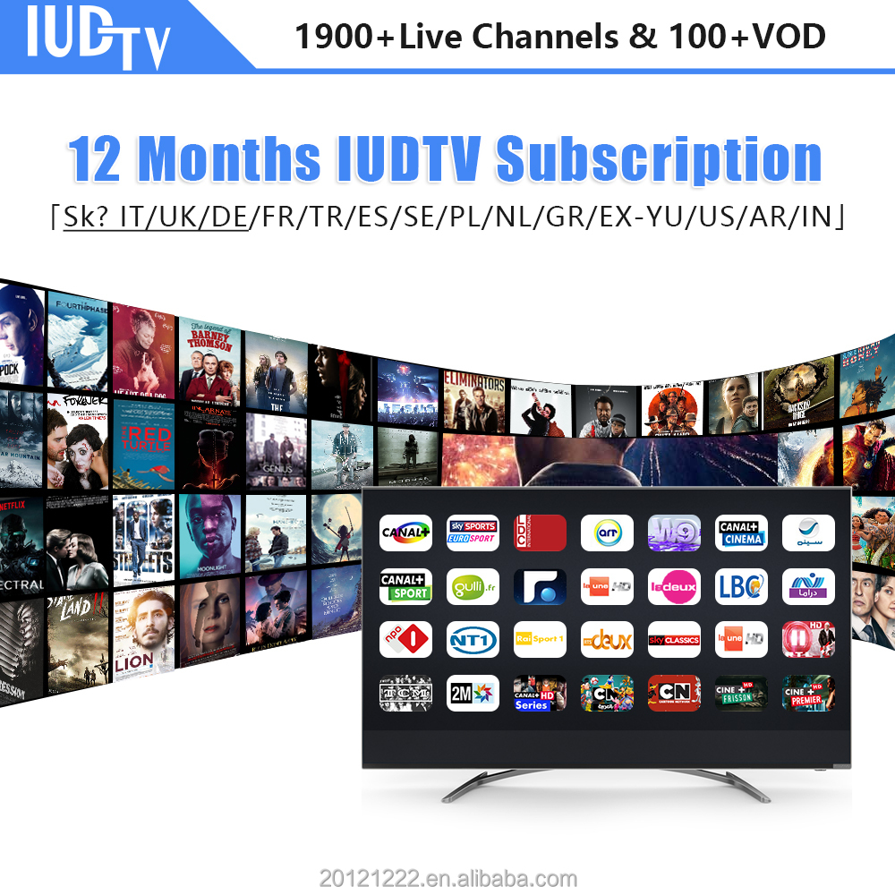 1900+ Europe IUDTV IPTV APK Account With SKy Italy DE UK Arabic Albania Sweden French Turkey Germany HD Channels Adult