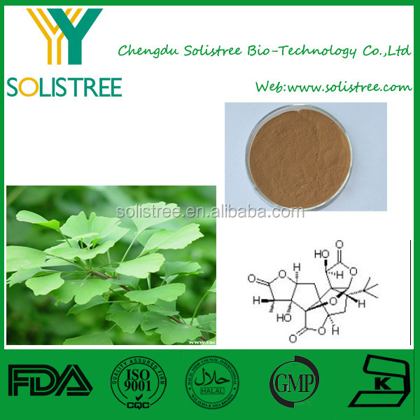 Solistree provide Best Price Natural Ginkgo Biloba extract/24.0%Flavones 6.0% lactones/ginkgo biloba extract 24/6