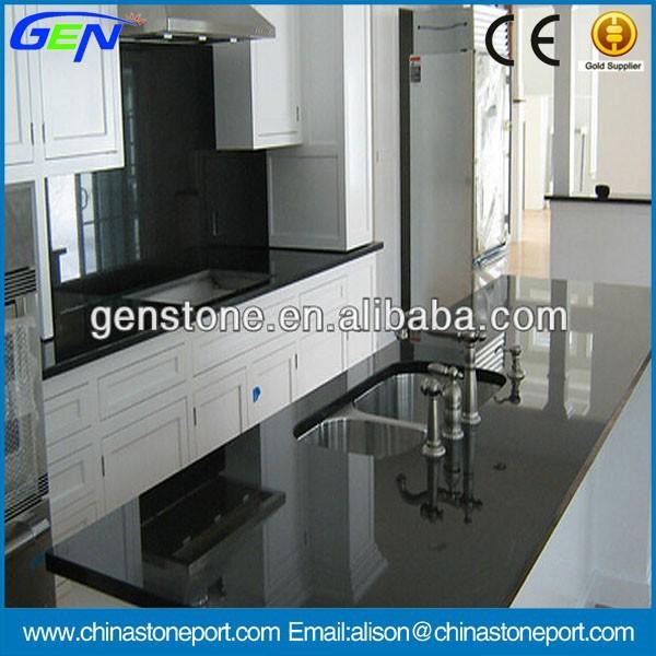 Laminate Black Granite Polished Kitchen Countertop - Buy 2014 Laminate ...
