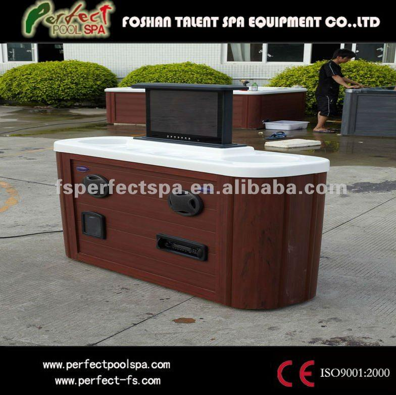 hot tub&outdoor spa Pop-up TV table with 7color LED light