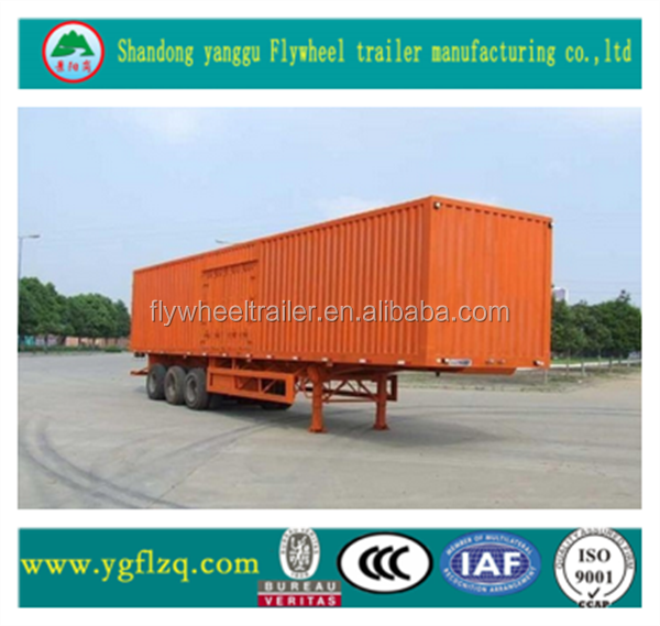 Tri-axle Enclosed box van Semi Trailer, cheap Semi Trailer, Cargo Trailers