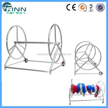 Guangzhou supply swimming pool customized stainless steel detachable pool lane rope reel cart