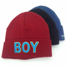 High quality 3d embroidered custom knitted beanie hat fashion beanie skull cap