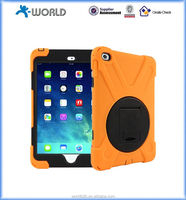 Multi-function Dual Layer PC SILICON case with attached screen for Ipad mini 4