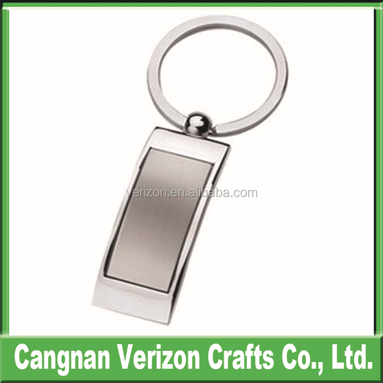 Custom LOGO design oblong metal name sublimation blank keychain/keyring