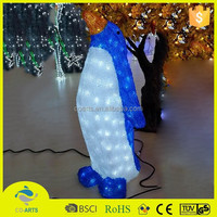 Most popular penguin acrylic christmas street light decoration