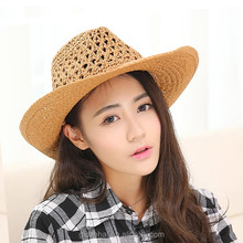 2017 NEW product YIWU natural straw hat,cheap panama hats,fashion sombrero mexican cowboy hat summer hat