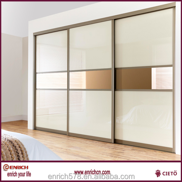 High quality flat packaging easy assemble with cam lock sliding door wardrobe