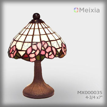 MX000035 wholesale tiffany table lamp flower stained glass lamp shade for home decoration piece
