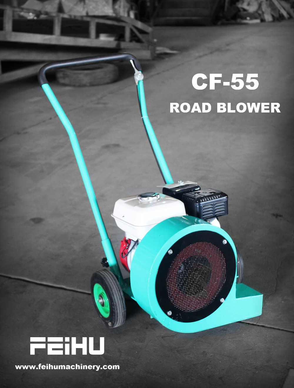 small asphalt road blower machine